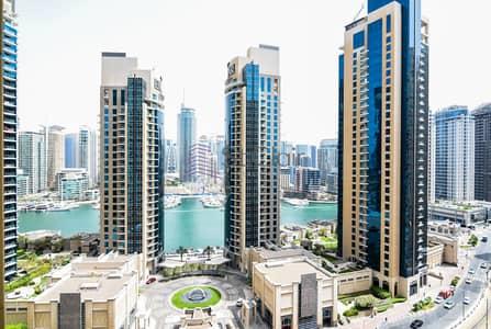 شقة 3 غرف نوم للبيع في جميرا بيتش ريزيدنس، دبي - Marina View and Partial sea from Rimal 5