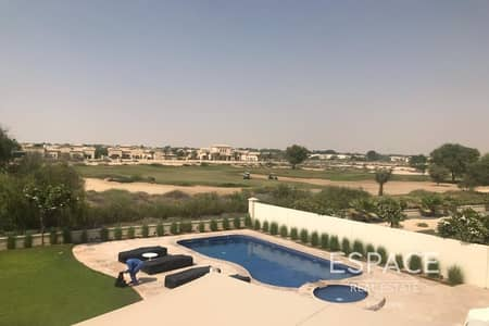 6 Bedroom Villa for Rent in Arabian Ranches, Dubai - Type 13 - Private Pool - Golf Course View