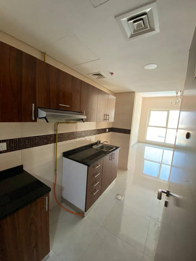 2 30 DAYS FREE  BEAUTIFUL BRAND NEW STUDIO  WITH BALCONY FOR RENT IN PHASE 2 WARSAN 4