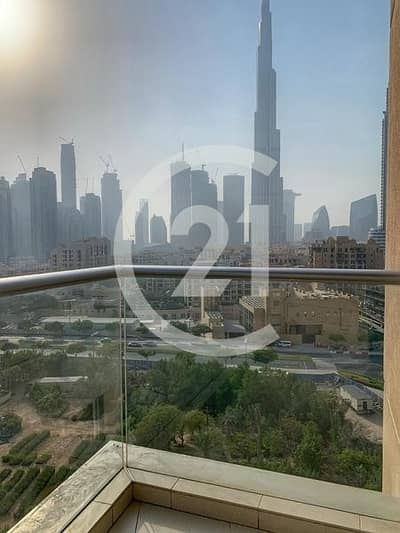 2 Bedroom Apartment for Rent in Downtown Dubai, Dubai - Comfortable 2 Bedrooms |Unfurnished | Burj Khalifa View