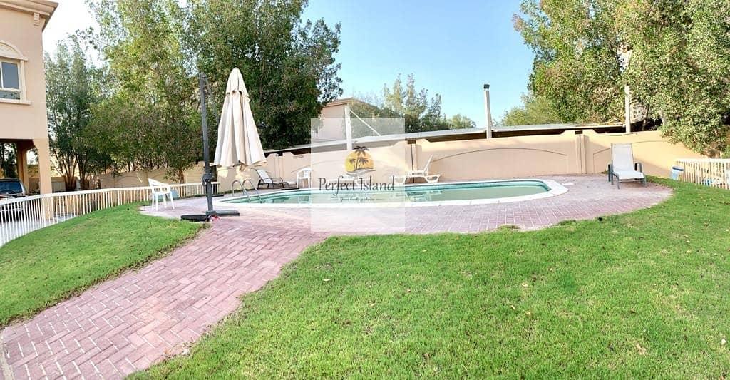 Corner Luxury 3 BR + M | Garden | Yard | Compound with Pool