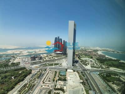 فلیٹ 4 غرف نوم للايجار في منطقة الكورنيش، أبوظبي - 0% Fee_High Floor_4 BR_Facilities-Nation Tower