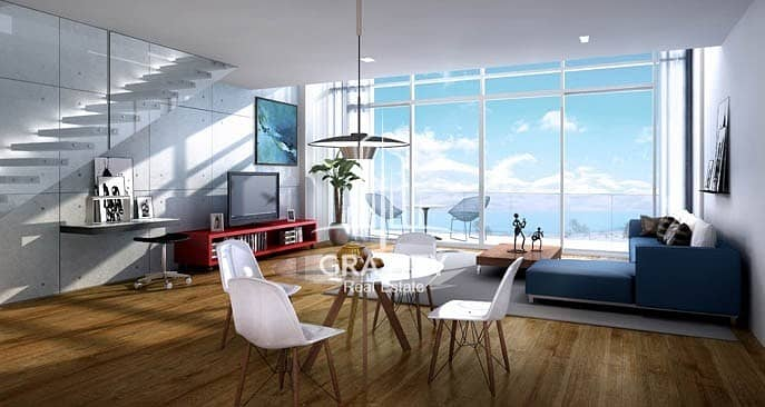 High Class 1BR Duplex Apartment W/ Partial Sea View