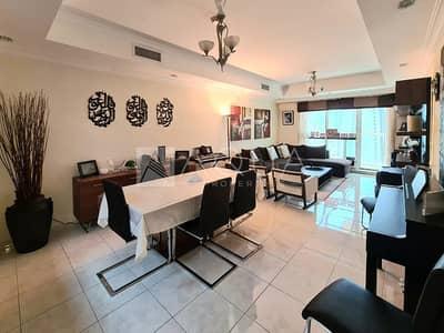 3 Bedroom Apartment for Rent in Jumeirah Lake Towers (JLT), Dubai - Marina View | High floor | 3 Bedroom | Maids