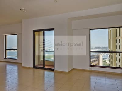 فلیٹ 1 غرفة نوم للايجار في جميرا بيتش ريزيدنس، دبي - Largest 1BR and Most Beautiful Sea View Apartment