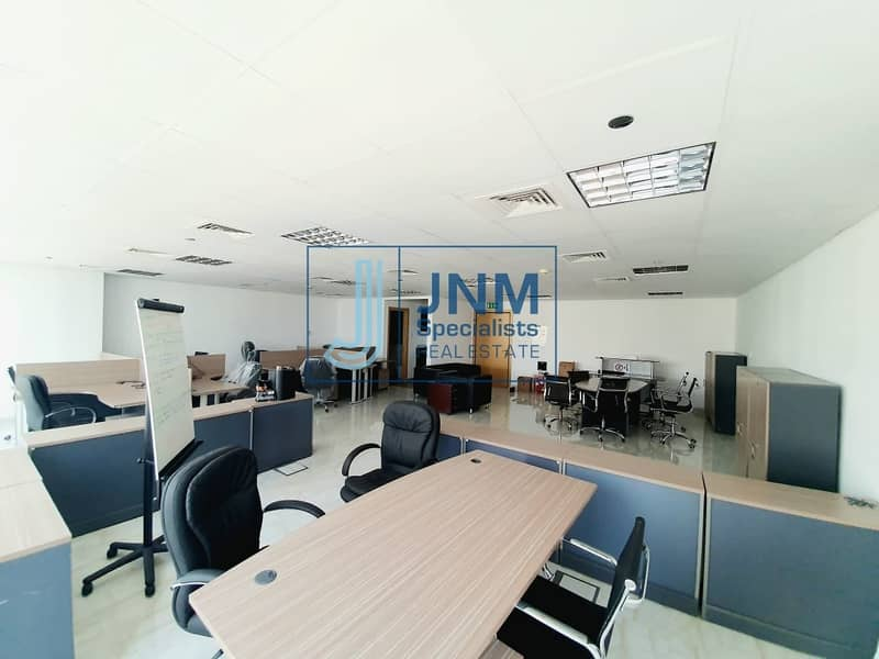 2 Fitted &Furnished Office | Low Floor | Lake View