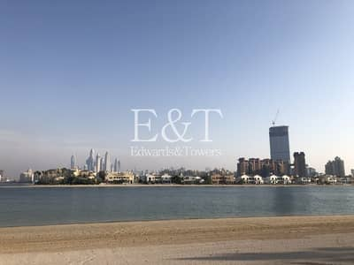 Plot for Sale in Palm Jumeirah, Dubai - B Frond Residential Plot | Sea View | PJ