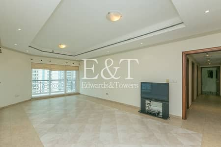 3 Bedroom Apartment for Rent in Dubai Marina, Dubai - High Floor | 3BR + 2 Living Rooms + Maids Room