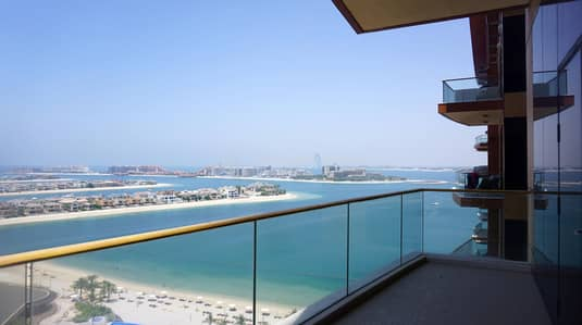 3 Bedroom Flat for Rent in Palm Jumeirah, Dubai - 45 DAYS FREE|3BR+maid's in Tiara|Sea Views