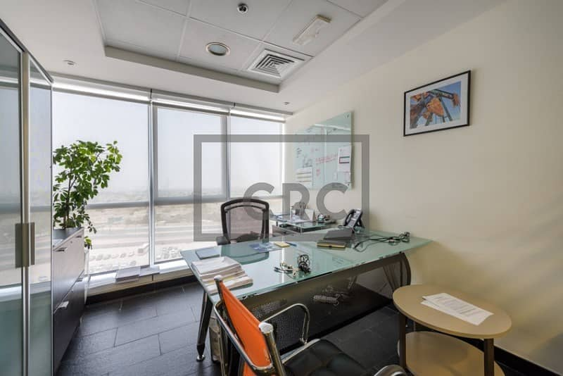 2 Furnished | Partitioned | Lake View| Corner Office