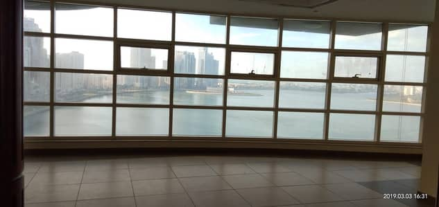 3 Bedroom Apartment for Rent in Corniche Al Buhaira, Sharjah - Sea view Luxury 3BR Free Chiller all Master Bedrooms with HC and Parking