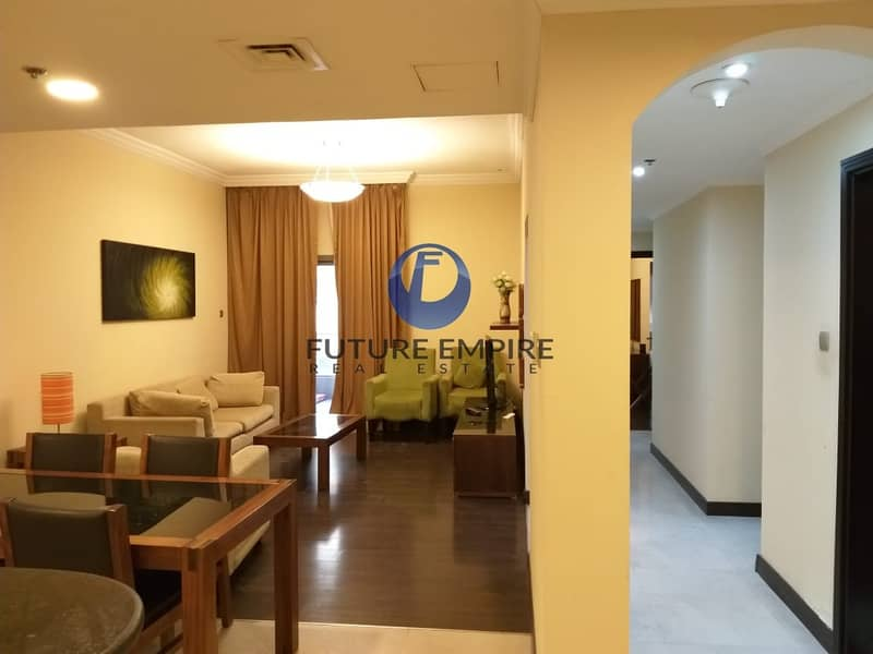 No commission Furnished 1bhk chiller free 1month building Location is good in rent43k