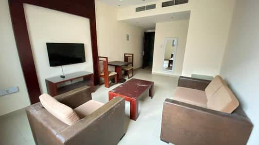 FRONT OF RAT DUBAI FURNISHED APARTMENT WIFI , PARKING AND GYM FREE 30K to 31k