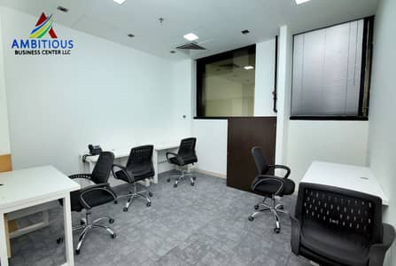 AFFORDABLE DESK SPACE AVAILABLE AT ONLY 5,000 PER YEAR ! FREE HI SPEED WI FI, FREE DEWA, FREE AC ETC