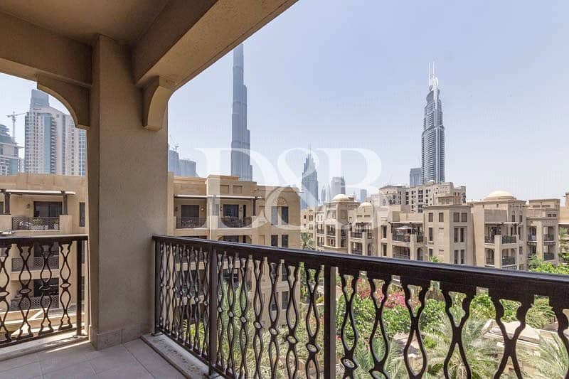 2 Burj And Pool View | Well Maintained | Bright Unit
