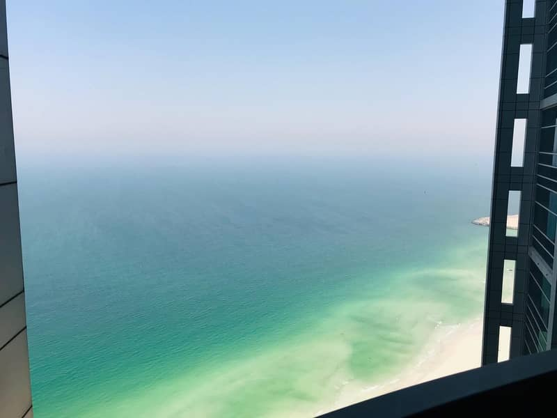 Biggest Full Sea View 2Bedroom Hall For Rent with maid room
