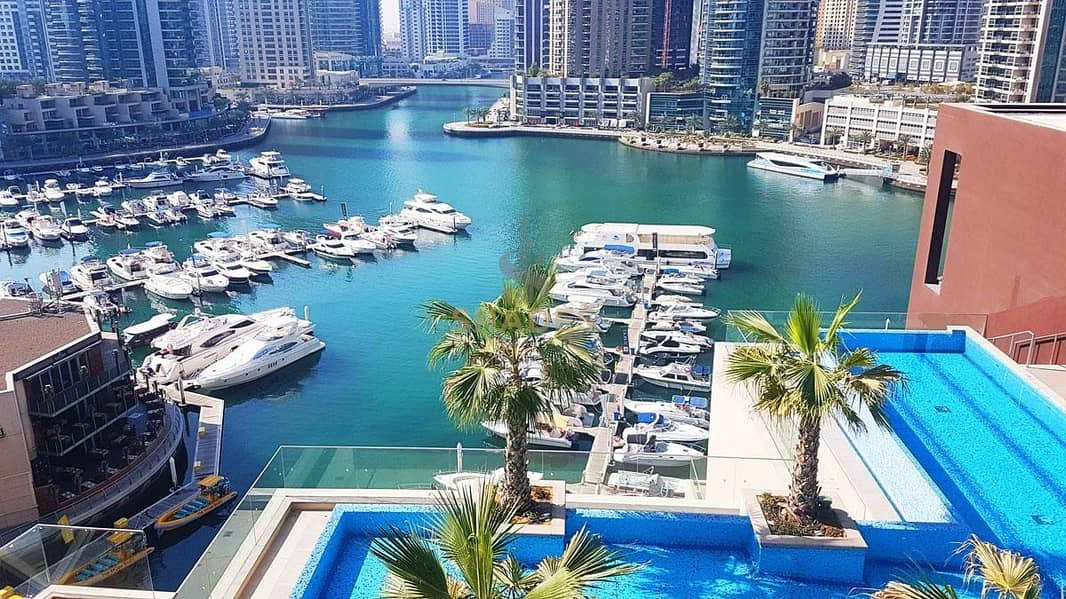 2 Chiller Free| 2 BedRoom with Pool View| Marina Gate 1