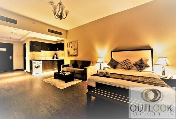 Furnished Studio | No Commission | Pay 12 in Chqs |
