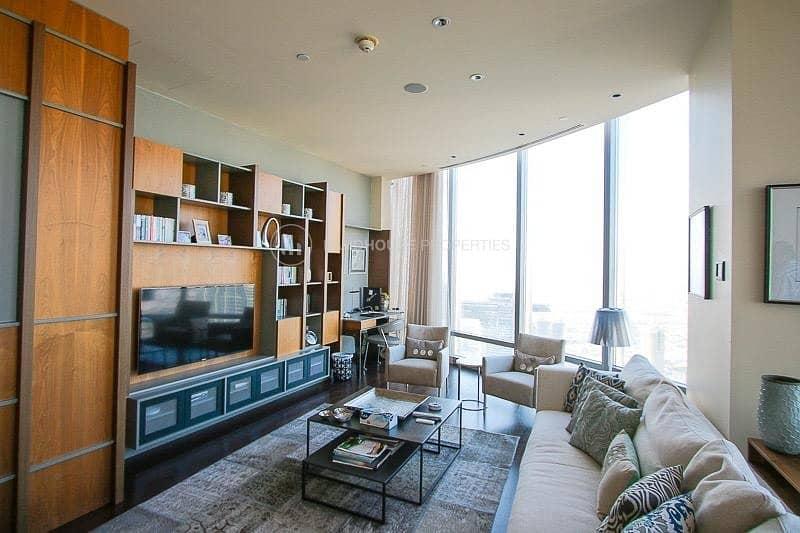 2 Luxuriously Furnished 3BR+maid's Burj Khalifa|Sea View