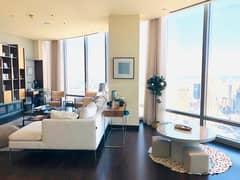 Luxuriously Furnished 3BR+maid's Burj Khalifa|Sea View