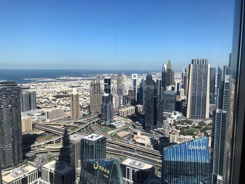 11 Luxuriously Furnished 3BR+maid's Burj Khalifa|Sea View