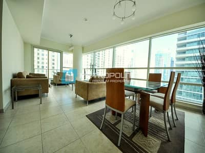 2 Bedroom Apartment for Rent in Dubai Marina, Dubai - Sea View | Chiller Free | High Floor |Pet friendly