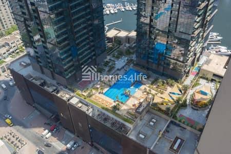 2 Bedroom Flat for Rent in Dubai Marina, Dubai - Vacant |Chiller free|Partial Sea View