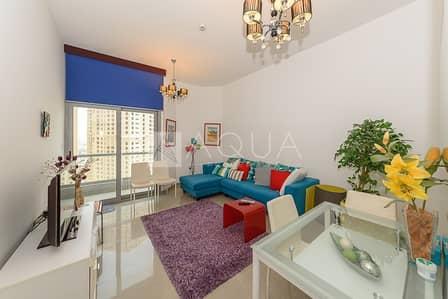 1 Bedroom Flat for Rent in Dubai Marina, Dubai - Furnished | Balcony | Sea View | Mid Floor
