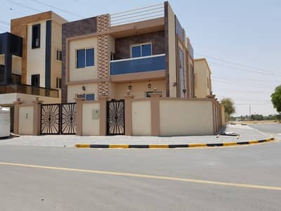 5 Bedroom Villa for Sale in Al Helio, Ajman - For sale villa in Ajman a modern system without a down payment on bank financing