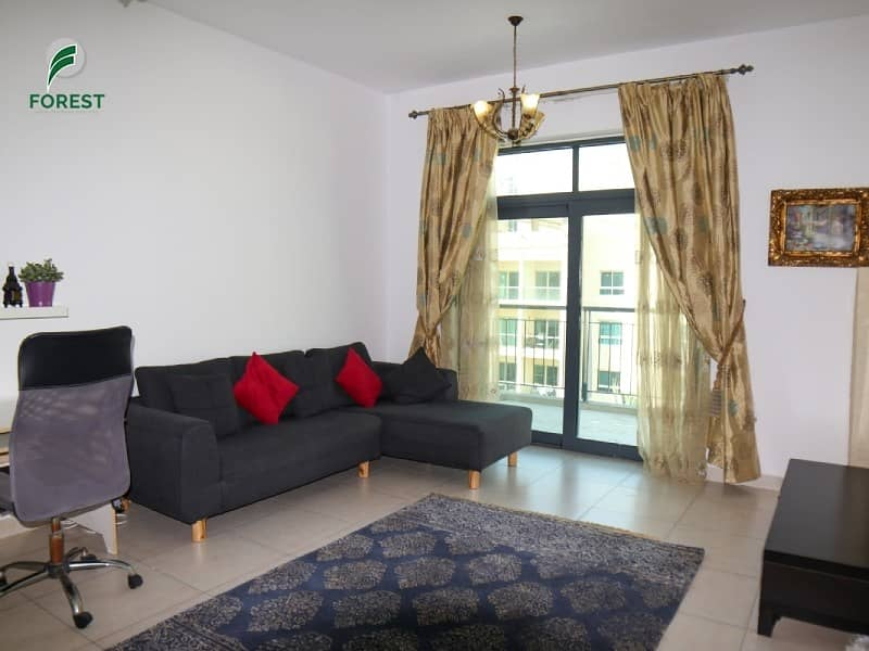 2 Spacious | 1BR | Now vacant | Furnished