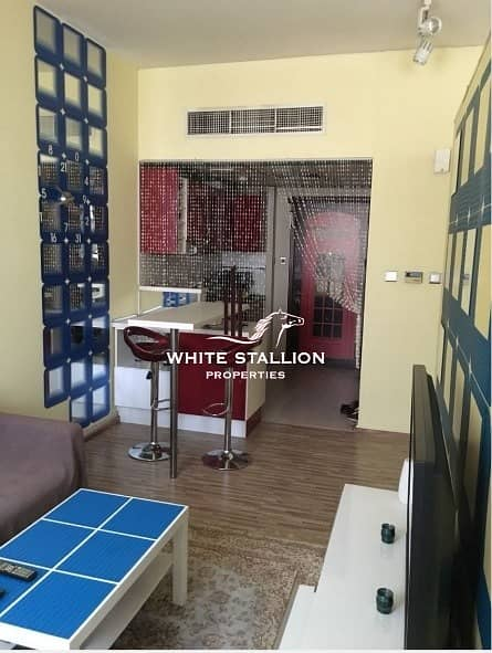 2 Converted Fully Furnished Studio into 1BHK for 24K by 4 Chqs