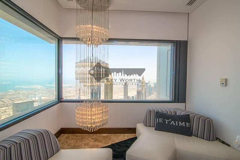 30 Stunning & Luxuries Penthouse | Fully upgraded & furnished | Burj Khalifa & Skyline view