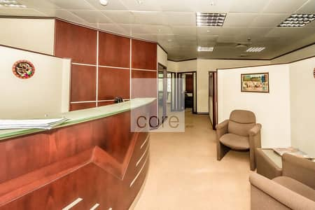 Office for Rent in Al Garhoud, Dubai - Low Floor | Fitted and Partitioned Office