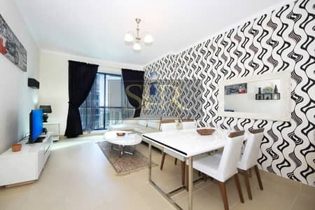 1 Bedroom Apartment for Rent in Jumeirah Lake Towers (JLT), Dubai - 12 Cheques | Furnished Duplex Apt With Lake View