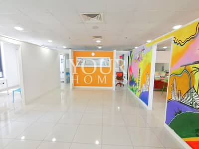 Office for Rent in Jumeirah Village Circle (JVC), Dubai - Fitted Partition Office For Rent