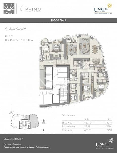 15 4 Bed in Opera District