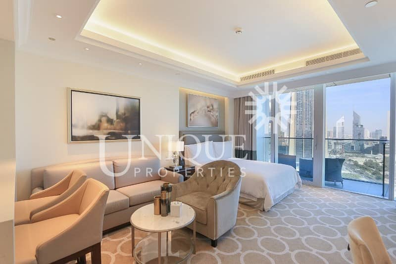 High Floor Furnished Studio with Sea view