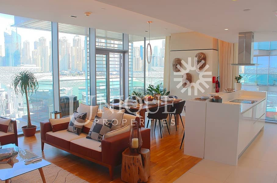 3 Bed + M | Fully Furnished  | Full Dubai Eye View