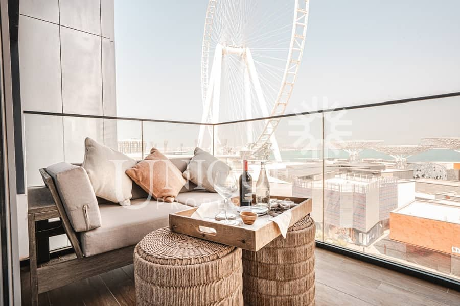 2 3 Bed + M | Fully Furnished  | Full Dubai Eye View