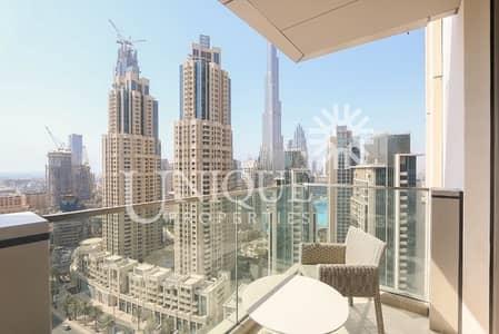 2 Bedroom Apartment for Sale in Downtown Dubai, Dubai - Mid Floor | Burj Khalifa and Fountain View
