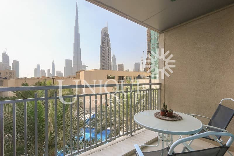 Large Studio | Burj Khalifa View and Pool View
