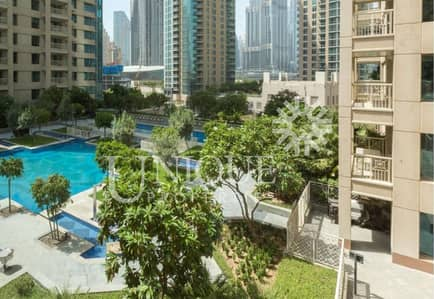 1 Bedroom Apartment for Rent in Downtown Dubai, Dubai - Podium 1 Bedroom in 29 Blvd | Pool view