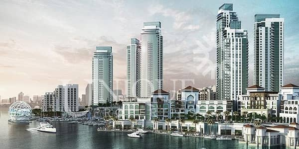3 Bedroom Apartment for Sale in The Lagoons, Dubai - Full Creek and Burj view 3BR in Creek Res North T1
