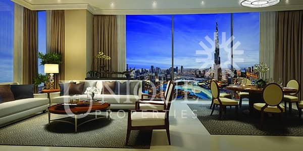 Burj and Fountain view | 5-Star Facilities