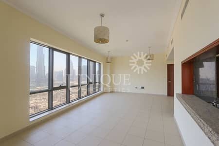 2 Bedroom Flat for Rent in Downtown Dubai, Dubai - 2 Bed with Burj Khalifa & Old Town View