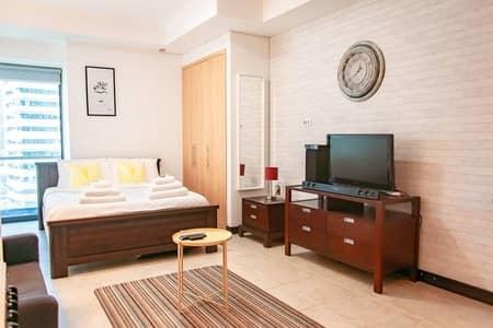 استوديو  للايجار في أبراج بحيرات الجميرا، دبي - Full Lake View | Furnished | With Balcony |