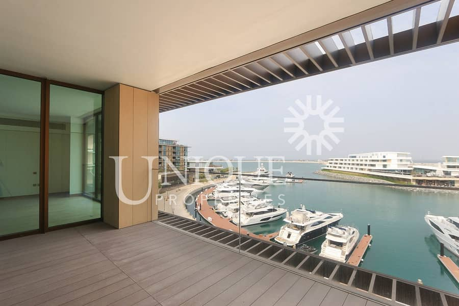 2 Bulgari Unfurnished with Yacht view