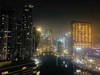 فلیٹ 2 غرفة نوم للايجار في دبي مارينا، دبي - Full marina view 2BR With kitchen appliances