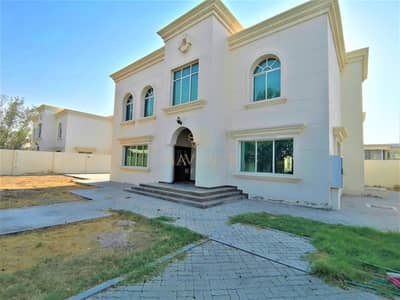 4 Bedroom Villa for Rent in Al Goaz, Sharjah - 4BR Villa+Big Compound | Private Pool | 6Chqs