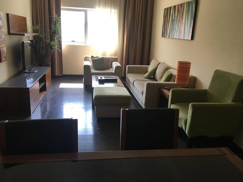 AC FREE fully furnished 1 bhk close kitchen parking gym pool just in 38k